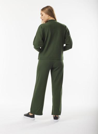 Stamina Tek Plaka Uzun Triko Pantolon Haki